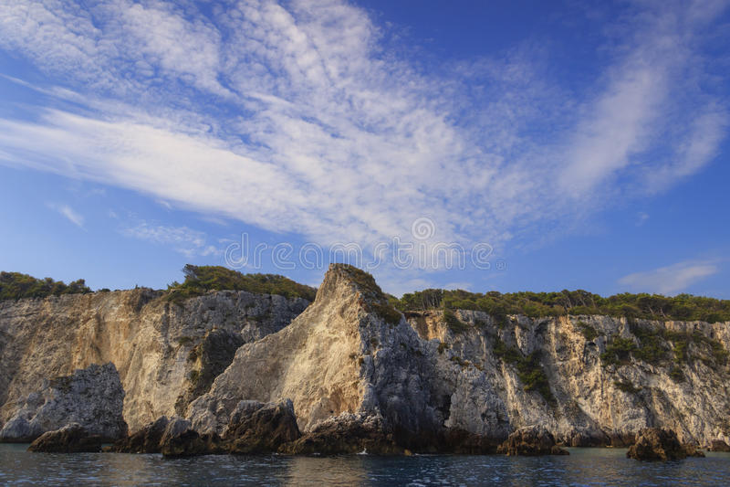 Parc national de Gargano : côte d'archipelag de ` d'îles de Tremiti, Italie Pouilles photo stock