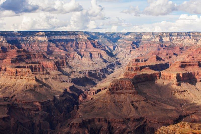 Parc national de Grand Canyon de vue scénique, Arizona, Etats-Unis Jour ensoleillé de paysage de panorama image libre de droits