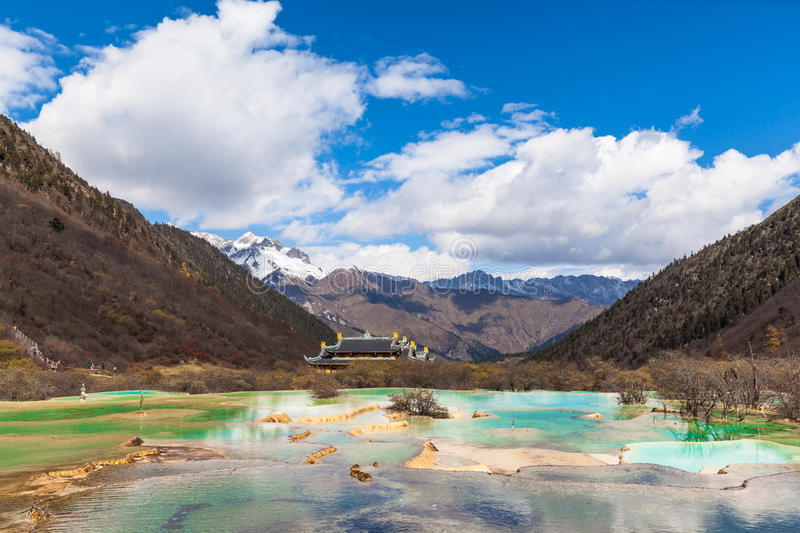 Parc national de Huanglong dans Sichuan Chine photo stock
