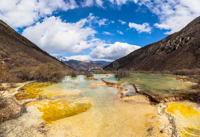 Parc national de Huanglong dans Sichuan Chine photographie stock