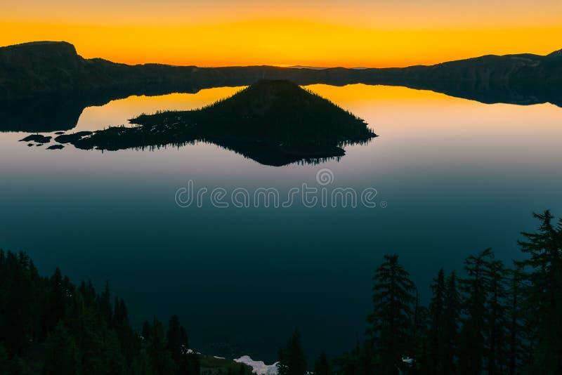 Parc national de lac crater, Or?gon, Etats-Unis photo stock