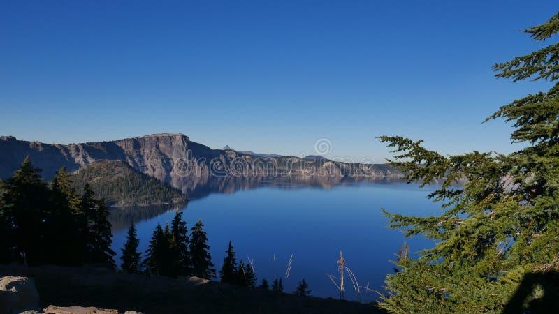 Parc national de lac crater image libre de droits