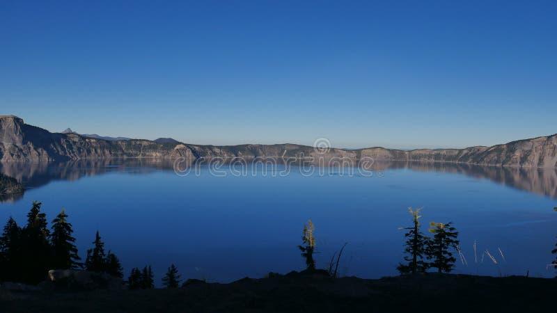 Parc national de lac crater photographie stock