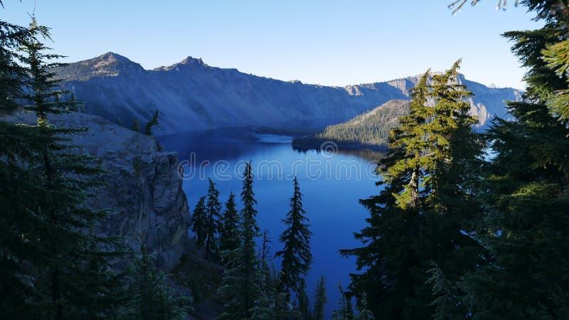 Parc national de lac crater photo stock