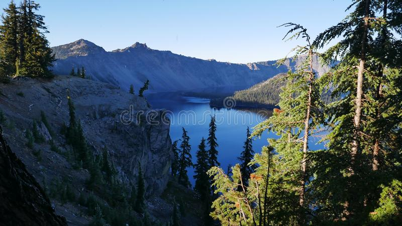 Parc national de lac crater photographie stock libre de droits