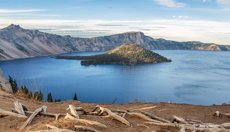 Parc national de lac crater, Orégon, Etats-Unis image libre de droits