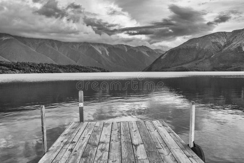 Parc national de lac, lac Nelsons, Nouvelle-Zélande images libres de droits