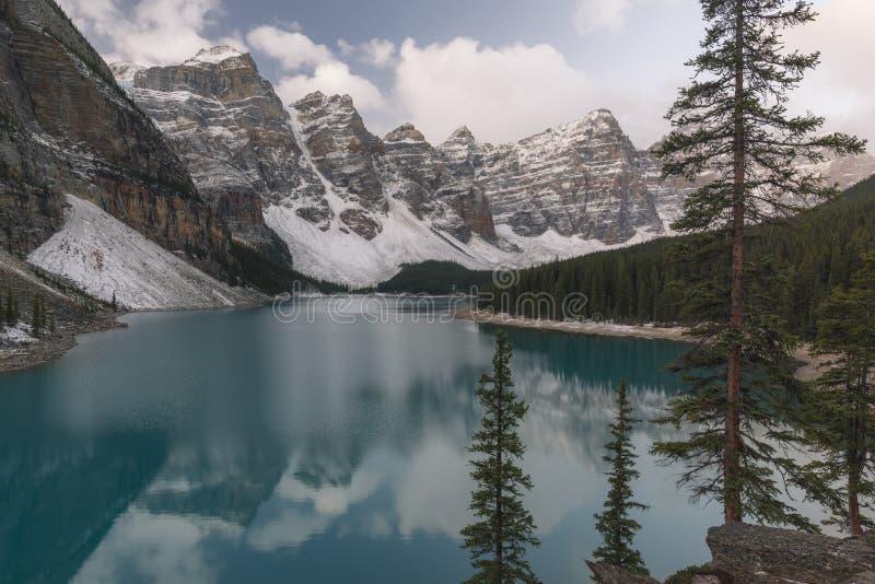 Parc national de lac moraine, Banff, Alberta, Canada photos stock