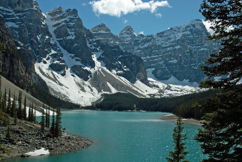 Parc national de lac moraine, Banff, Alberta, Canada image libre de droits