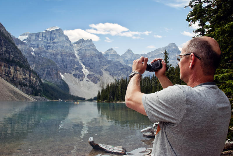 Parc national de lac moraine, Banff, Alberta, Canada photo stock