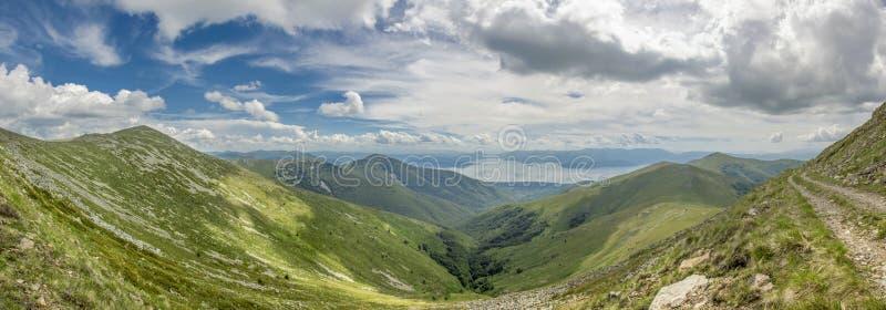 Parc national de Macédoine - de Pelister - panorama images stock