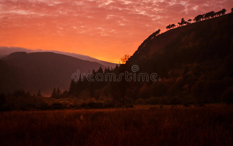 Parc national de montagnes de Wicklow photographie stock libre de droits