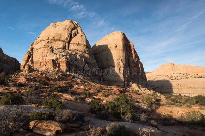 Parc national de récif capital de formations de roche, Utah photo libre de droits