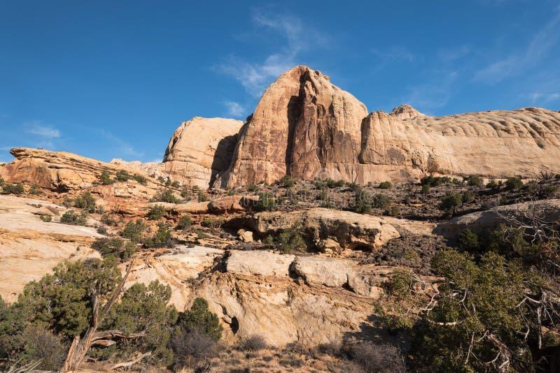 Parc national de r?cif capital de d?me de Navajo, Utah photographie stock