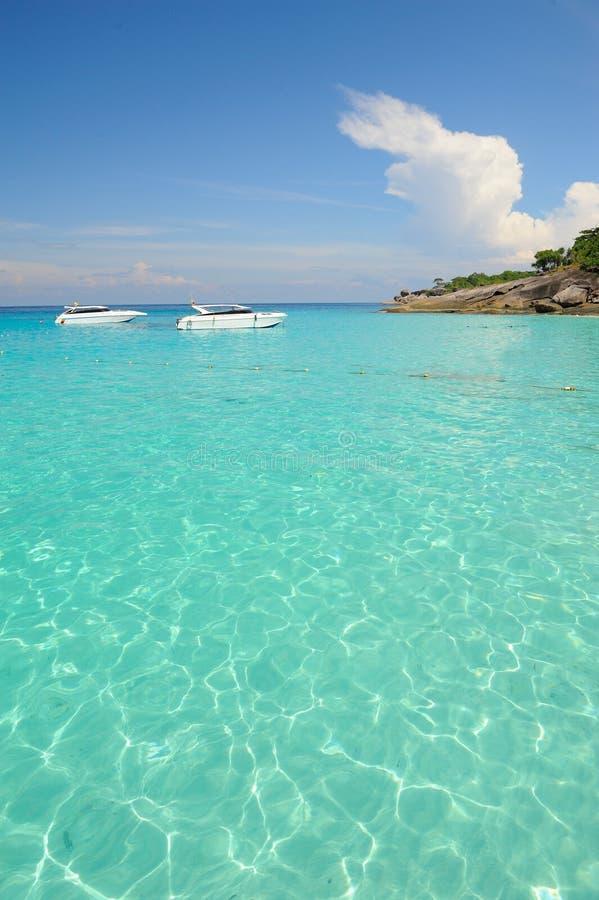 Parc national de Similan de belle mer, Thaïlande images libres de droits