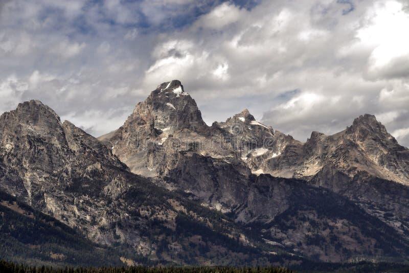 Parc national de teton grand au Wyoming du nord-ouest image libre de droits