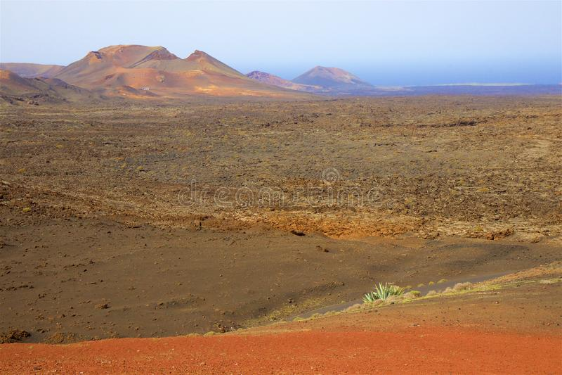 Parc national de Timanfaya à Lanzarote, Îles Canaries image stock