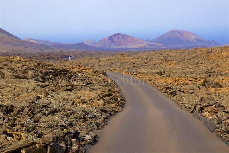 Parc national de Timanfaya à Lanzarote, Îles Canaries photos libres de droits