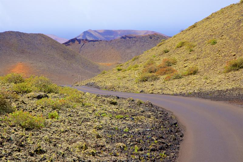 Parc national de Timanfaya à Lanzarote, Îles Canaries photographie stock