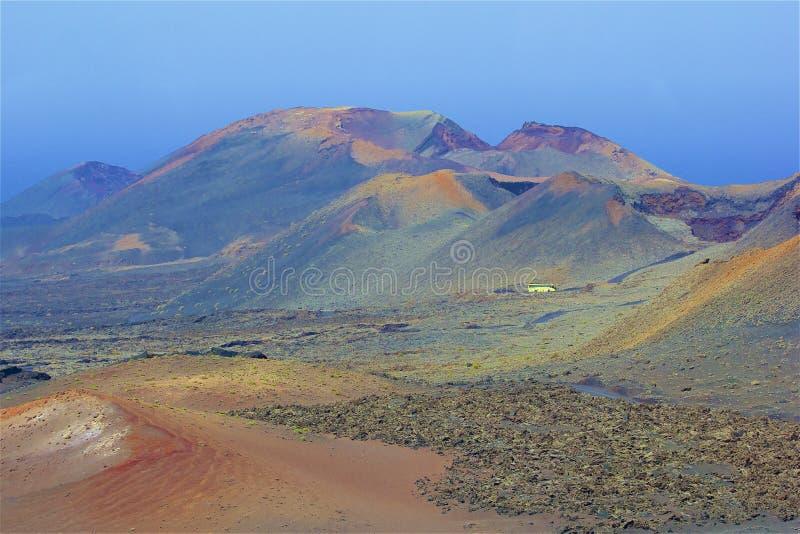 Parc national de Timanfaya à Lanzarote, Îles Canaries image libre de droits