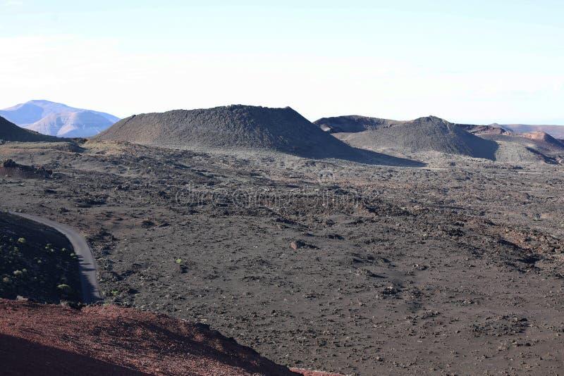 Parc national de Timanfaya sur l'île de Lanzarote, Espagne photographie stock libre de droits