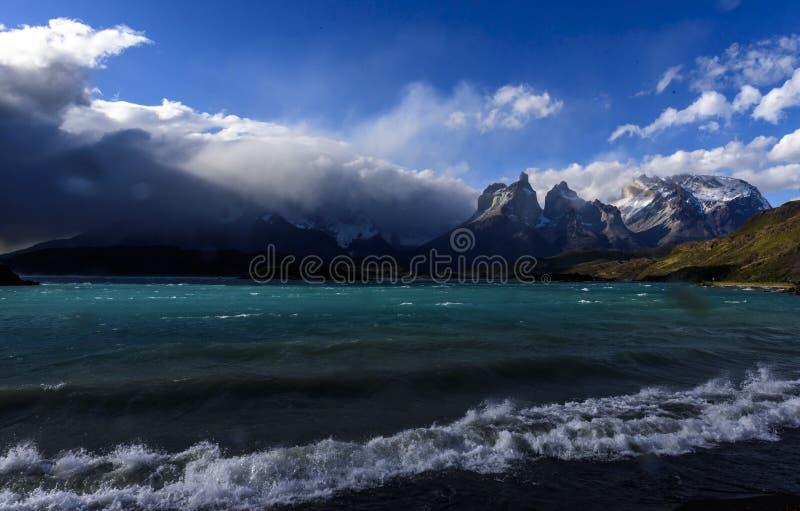 Parc national de Torres del Paine, Patagonia, Chili photographie stock libre de droits