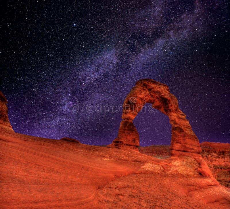 Parc national de voûtes dans Moab Utah Etats-Unis photographie stock libre de droits