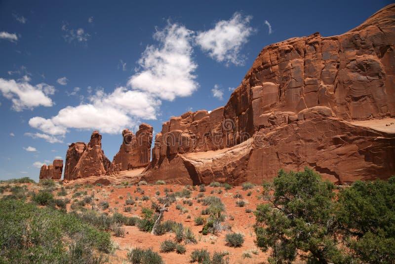 Parc national de voûtes en Utah, Etats-Unis images stock