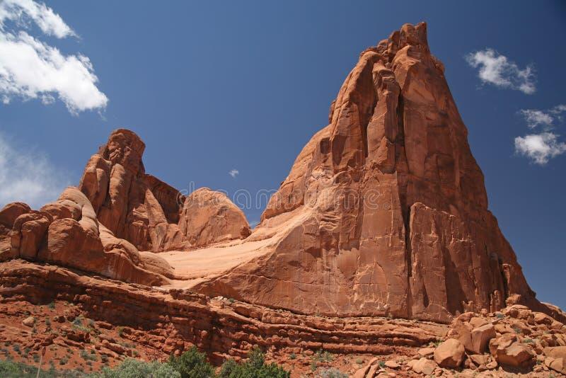 Parc national de voûtes en Utah, Etats-Unis images libres de droits