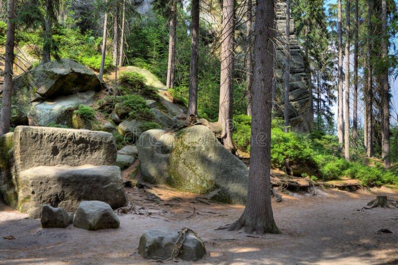 Download Parc National Des Roches D'Adrspach-Teplice Ville De Roche République Tchèque Image stock - Image du bohemia, rochers: 76088879