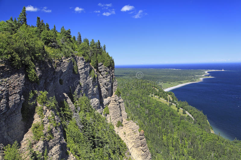 Parc National du Forillon in Gaspesie, Quebec stockbild