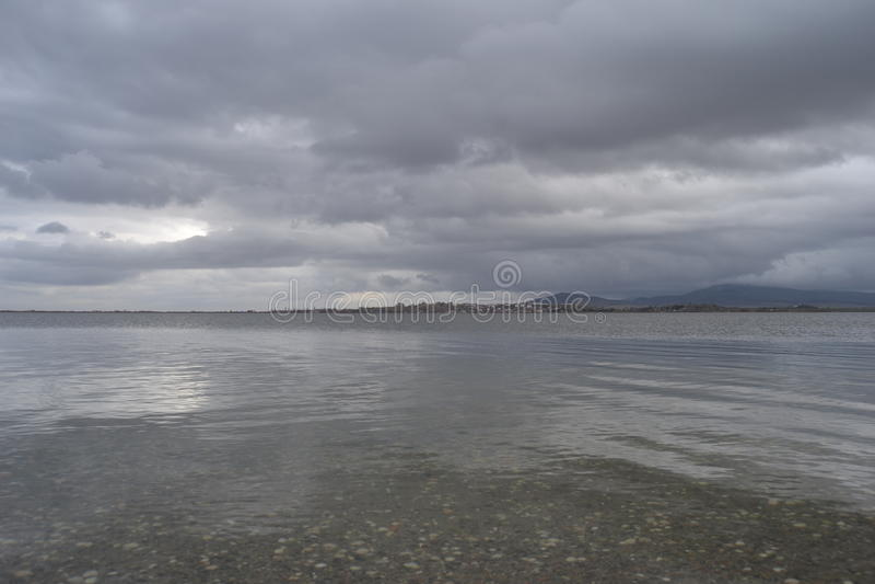 Parc national Edirne, rkiye de lac gala de ¼ de TÃ image stock