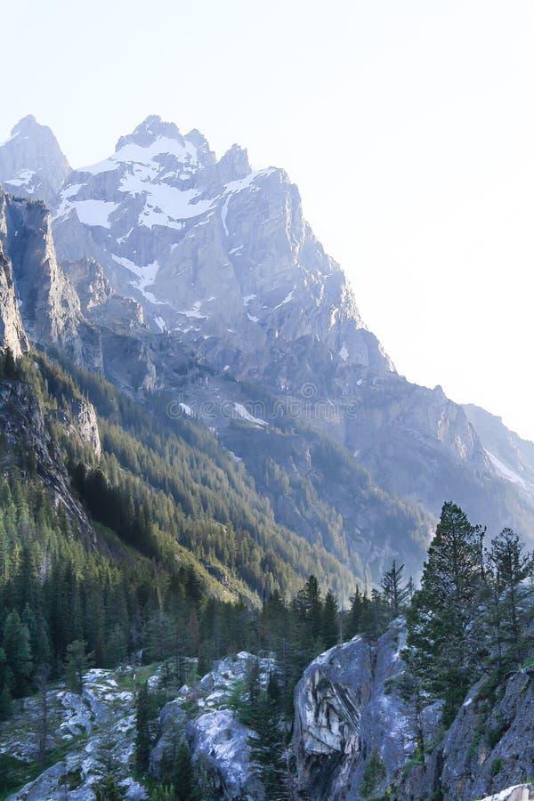 Parc national grand Wyoming de Teton de crête de montagne photographie stock libre de droits