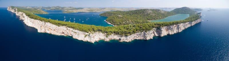 Parc national Kornati et parc naturel de Telascica, Croatie photographie stock libre de droits