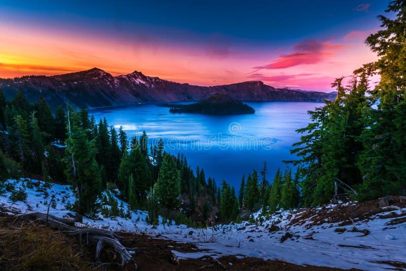 Parc national Orégon de lac crater photos libres de droits