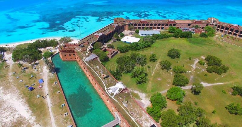 Parc national sec de Tortugas, fort Jefferson florida LES Etats-Unis photos stock