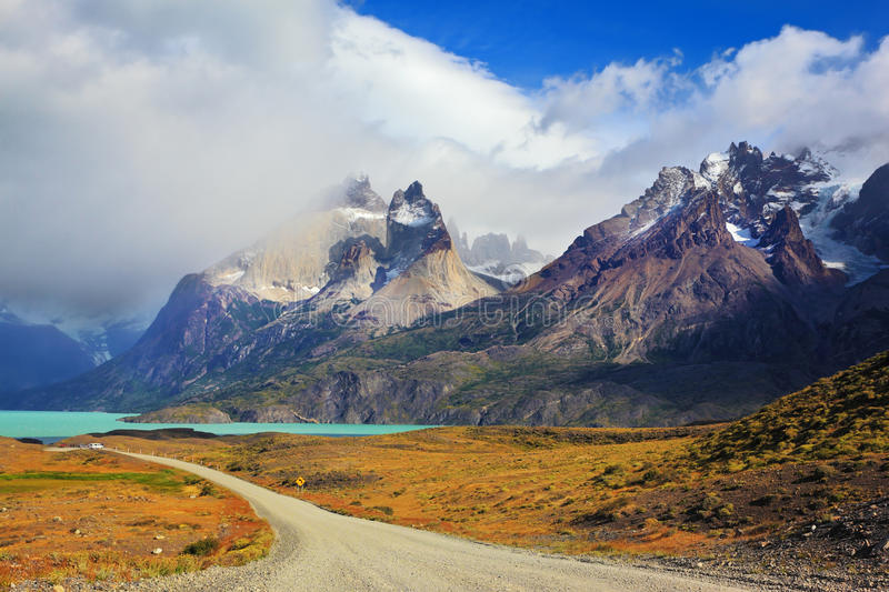 Parc national Torres del Paine, Patagonia images libres de droits