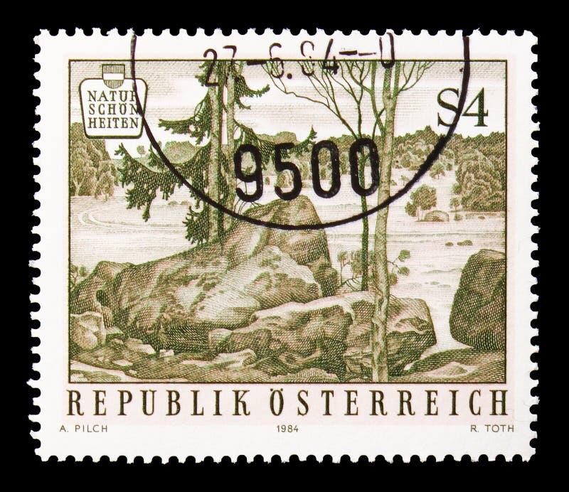 Parc naturel Blockheide Eibenstein, beautés naturelles en Autriche photo stock