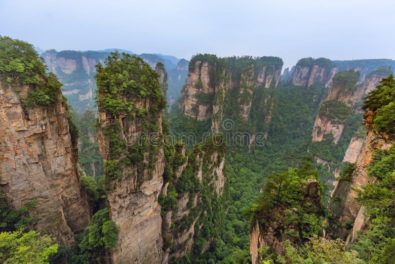 Parc naturel des montagnes Tianzi Avatar - Wulingyuan China photo stock