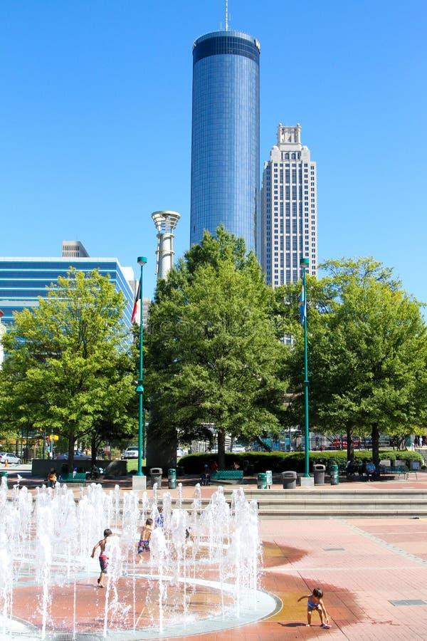 Parc olympique centennal, Atlanta, GA photo libre de droits