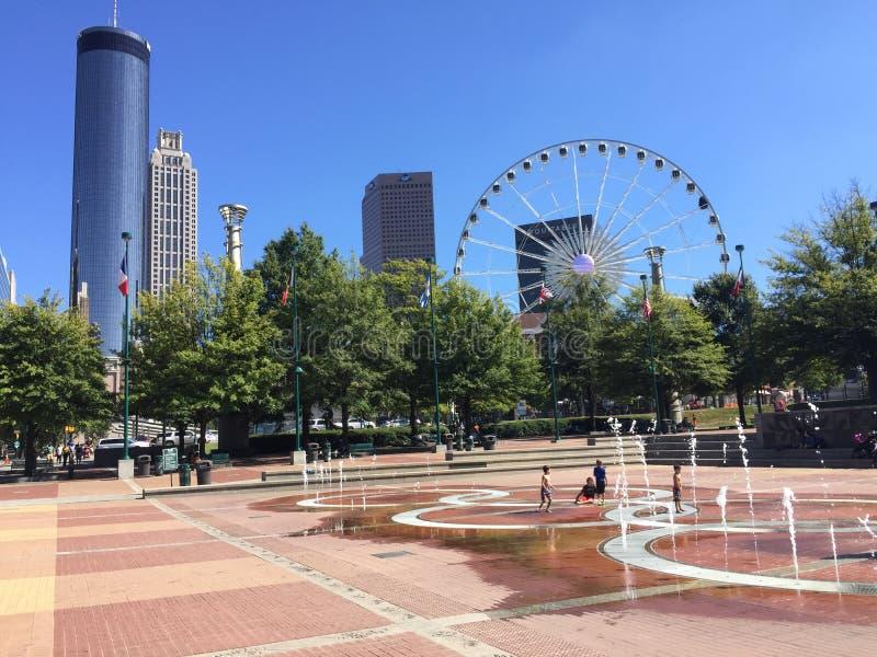 Parc olympique centennal, Atlanta, GA images libres de droits