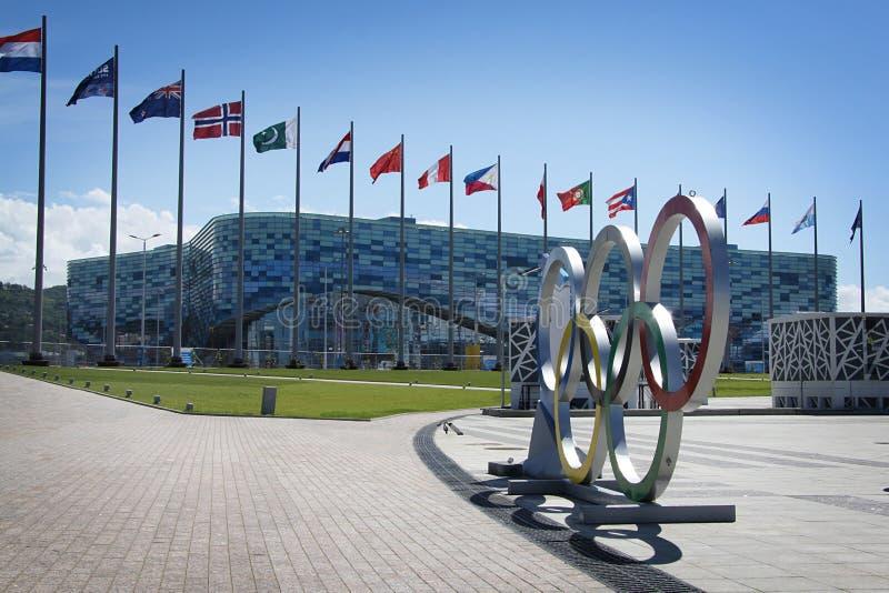 Parc olympique de stade d'iceberg XXII aux Jeux Olympiques d'hiver image libre de droits