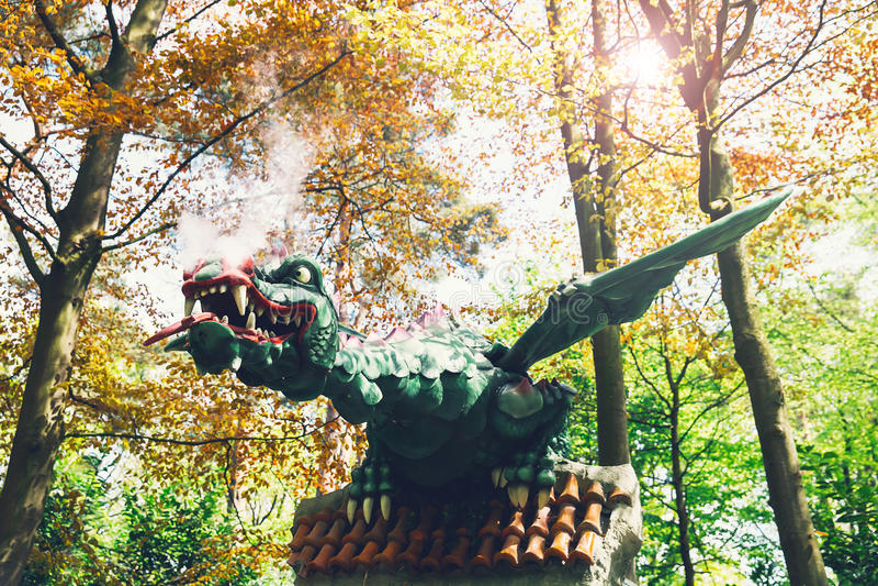 Parc orienté Efteling d'imagination aux Pays-Bas photo libre de droits