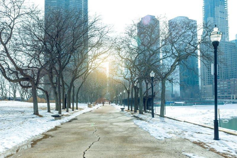 Parc public du centre de Chicago photographie stock libre de droits