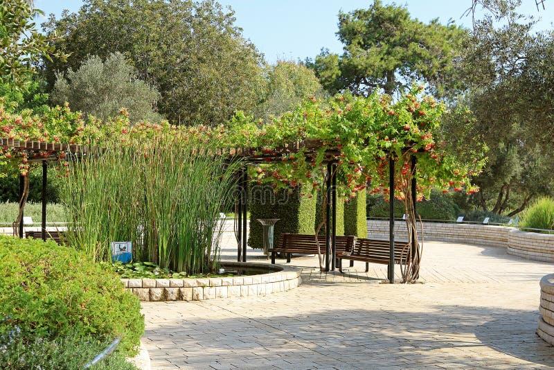 Parc Ramat Hanadiv, jardins commémoratifs de Baron Edmond de Rothschild photo stock