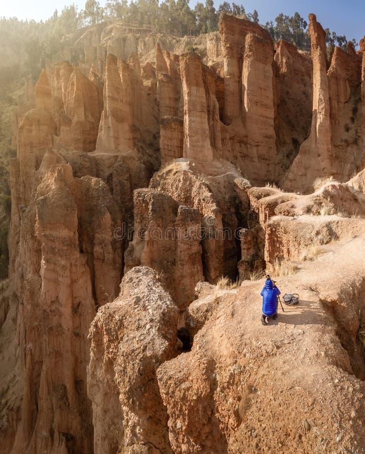 Parc rocheux 'Torre Torre' à Huancayo, Pérou photos stock