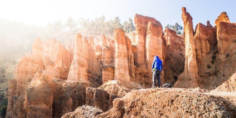 Parc rocheux 'Torre Torre' à Huancayo, Pérou image libre de droits