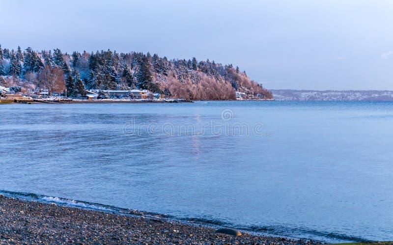 Parc Shoreline de la Normandie d'hiver photo stock