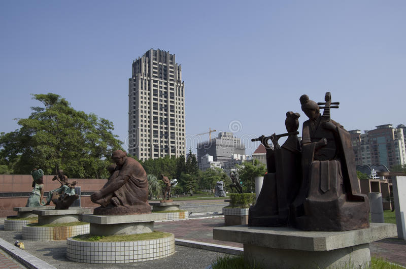 Parc Taichung Taïwan de sculpture en Fengle image stock