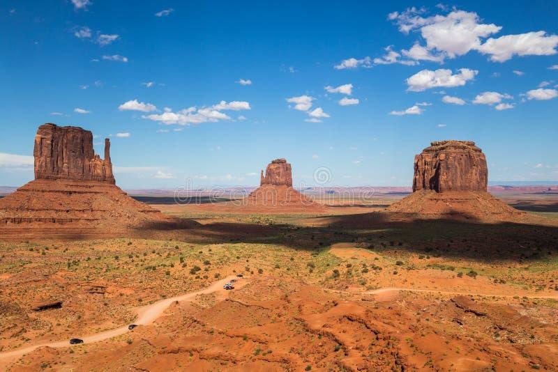 Parc tribal de Navajo de vallée de monument, Utah, Etats-Unis images libres de droits